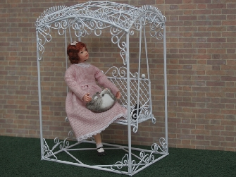 Dolls House White Wire Furniture